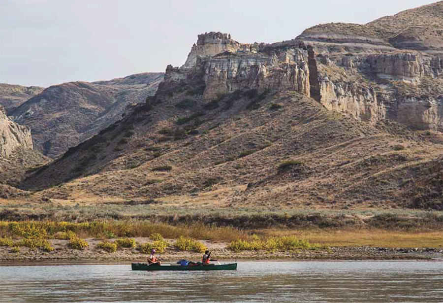 Canoeists in the Upper Missouri Breaks National Monument - Courtesy of Bob Wick/BLM