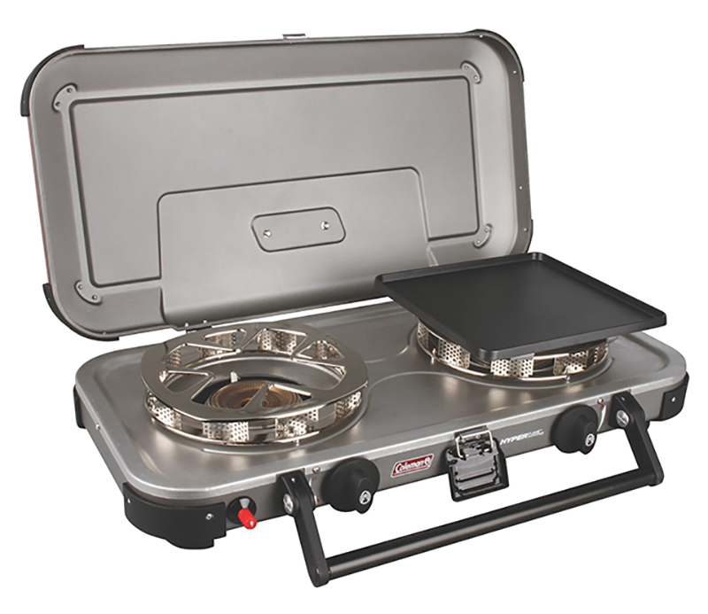 Coleman Fryechampion Hyperflame, a great cooking stove for whitewater kayaking road trips