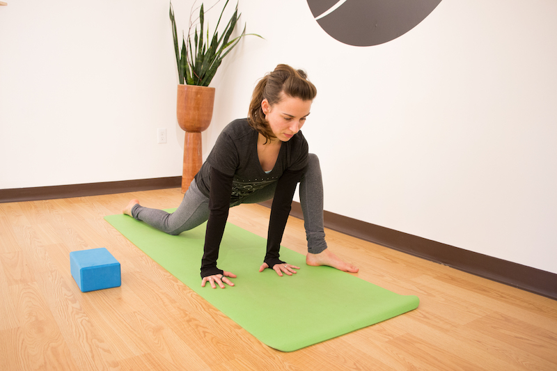 Lizard pose, a useful skill for kayakers