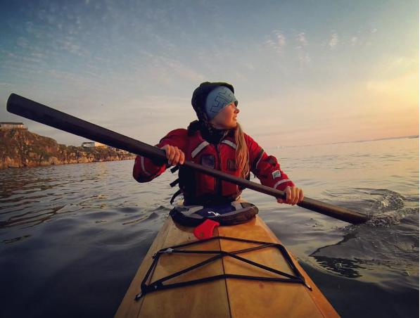 Freya Fennwood's photo of a kayaker on the ocean.