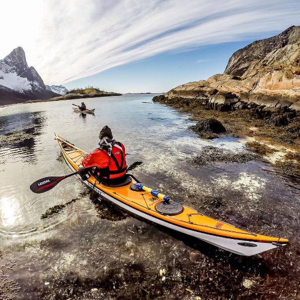 Jaime Sharp's photo of a kayak on the ocean.