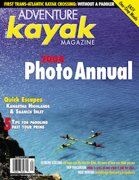 Cover shot of the adventure kayak magazine photo annual edition.