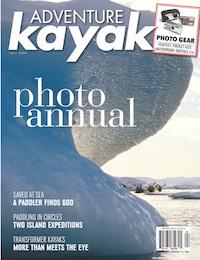 Cover photo of Adventure Kayak magazine's Photo Annual edition.