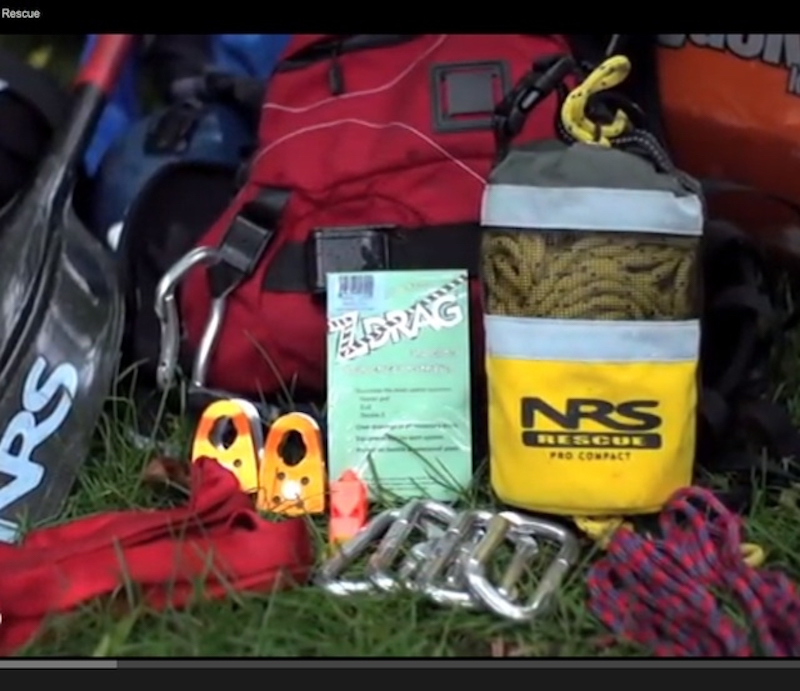 Items you can equip your PFD with for whitewater rescue.