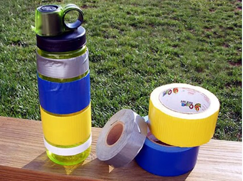water bottle tape