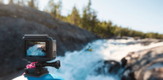 go pro filming kayakers