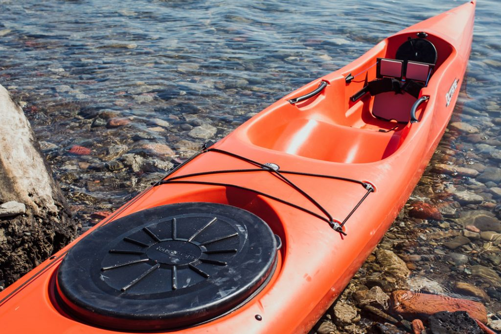 orange Pyrahna kayak