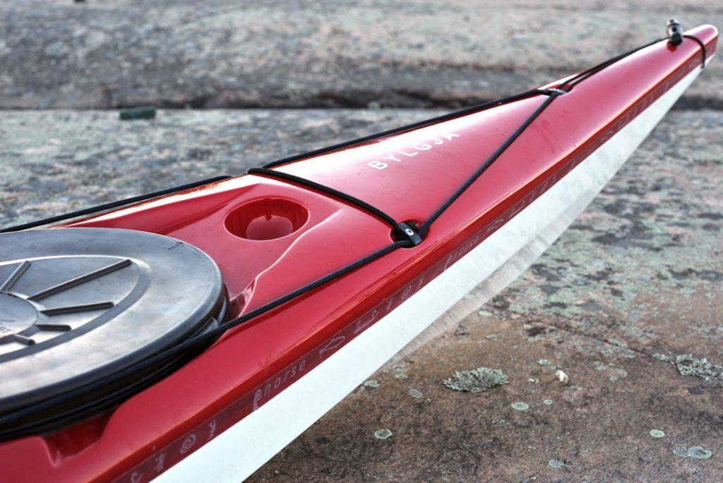 a look at the Viking imagery on Norse Kayaks' Bylgja sea kayak