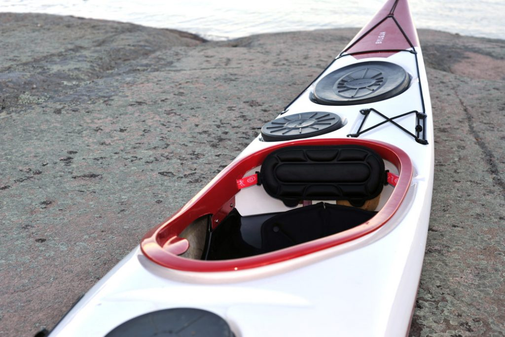 A view of Norse Kayaks' Bylgja sea kayak's cockpit