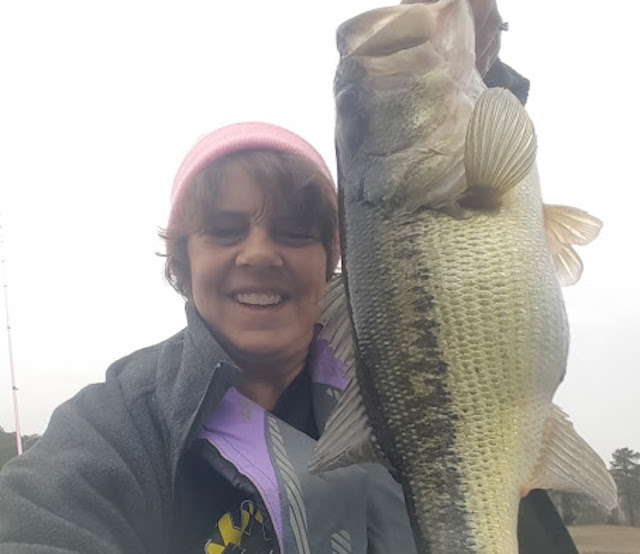 Julie Tomasik caught these largemouth bass throwing a swimbait in overcast conditions. Photos: Julie Tomasik