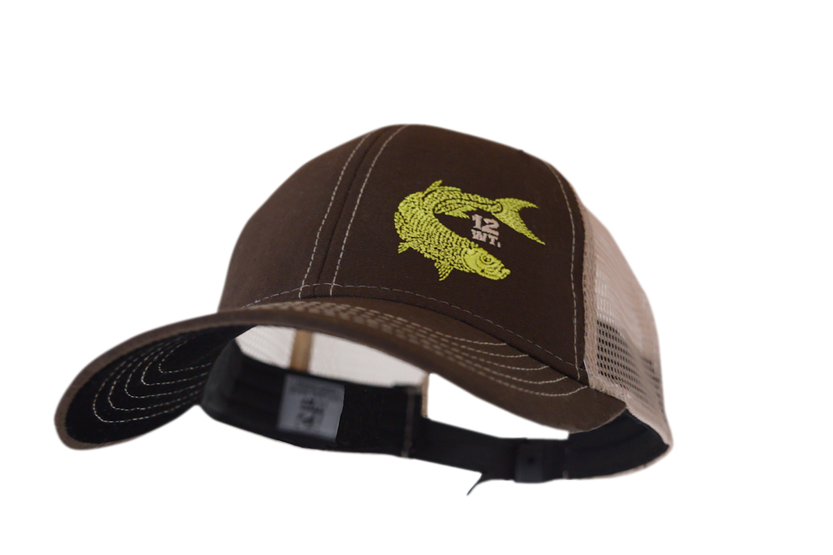 Image of the 12WT Trucker hat, a favorite for kayak anglers.