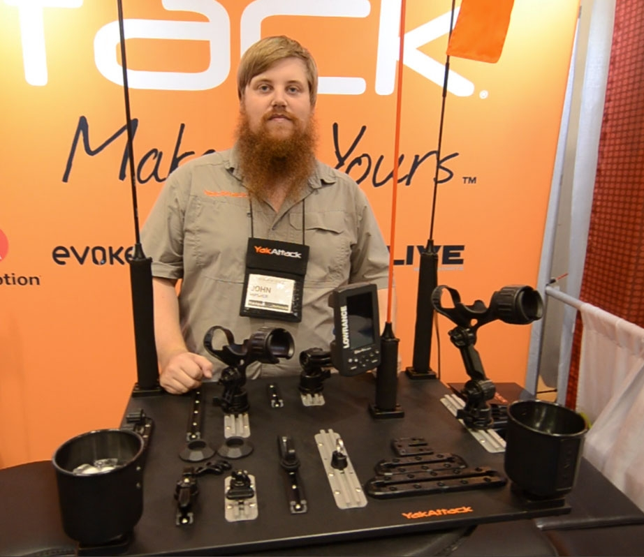 John Hipsher stands at YakAttack booth