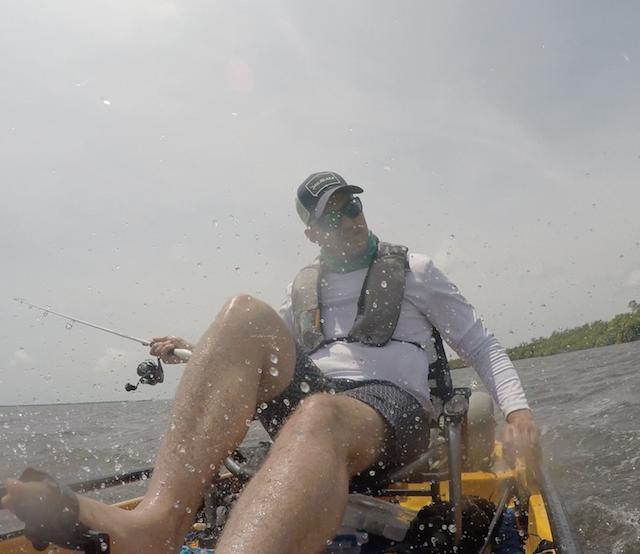 The winds were howling down here in Florida, making the fishing nearly impossible, but today's only the first day. Photos: Ben Duchesney