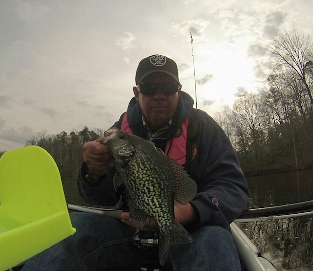 Brad Smith caught this 1 lb. 8 oz. in Virginia on his last cast. Photo: Brad Smith