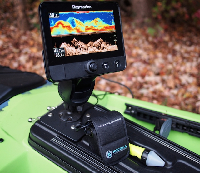 Compact, safe and powerful, the Nocqua Pro Power Kit is going to be a total game changer for mounting electronics to a kayak. Photos: Courtesy Nocqua