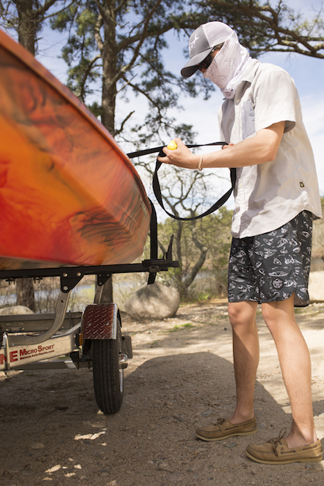 The Malone MicroSport Trailer makes the put in and take out as easy as fishing from your kayak.