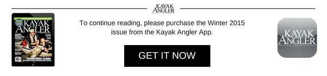 Get more kayak fishing paddling skills in Kayak Angler's winter issue now!