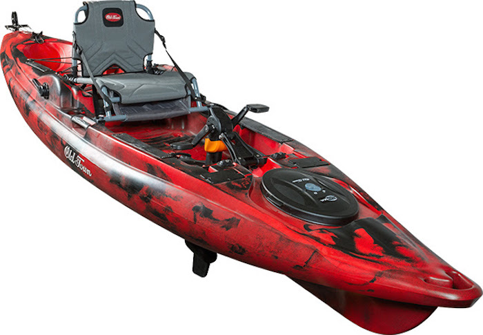 The Old Town Predator PDL, fish hands-free, without registering your boat.