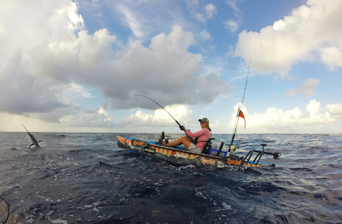 The Battle in The Bahamas will let you target big game species like sailfish from your kayak.
