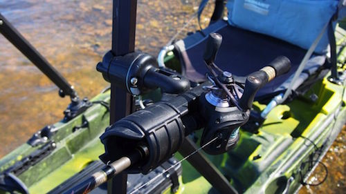 The Yak Gear StandNCast will let you mount rod holders, cameras and other accessories within easy reach for standup fishing.