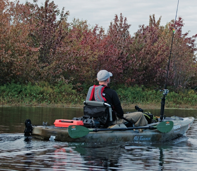 The Predator XL's powerful electric motor and foot powered rudder adds up to hands-free fishing. Photo: Ben Duchesney