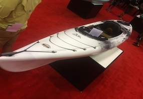 a view of Old Town Loon 126 Angler (ICAST 2015) fishing kayak
