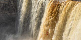 Bren Orton dropping Alexandra Falls in Northern Canada