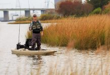Ric Burnley paddles Bonafide Kayaks RS117 Fishing Kayak