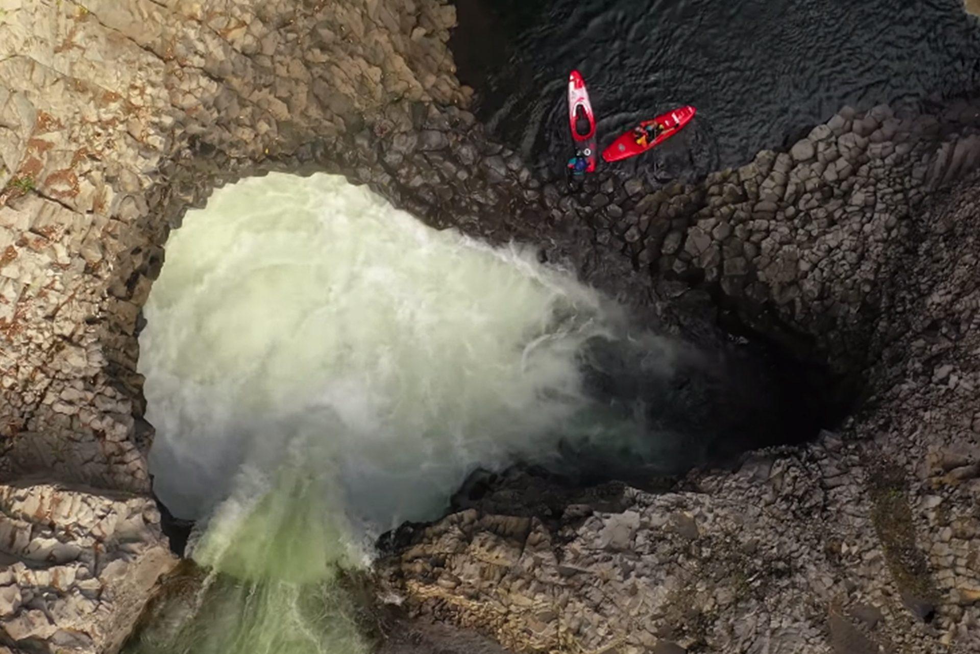Kayaking waterfalls in Hawaii