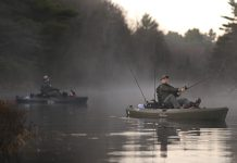 Kayak Angler fishing from the new Old Town Topwater PDL Fishing Kayak