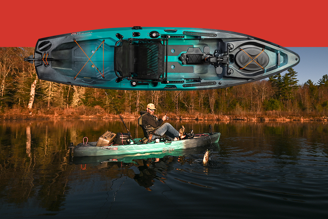 Win an Old Town kayak: Topwater 120 PDL.