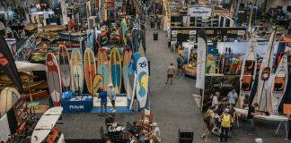 Paddlesports Retailer show floor 2019