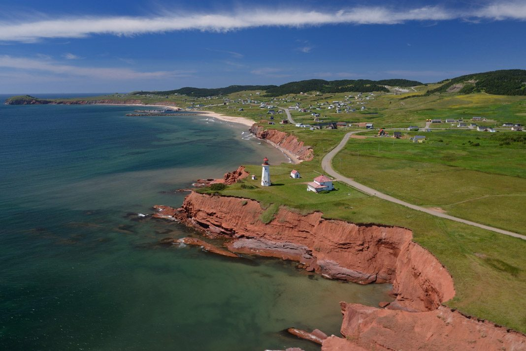 the red coast of the Iles de lad Madeleine