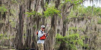 Kayak Angler Fishing Caddo Lake