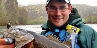 Jeff Little Holds Smallmouth Bass