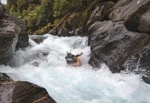 Adam Johnson on Crooked River, New Zealand
