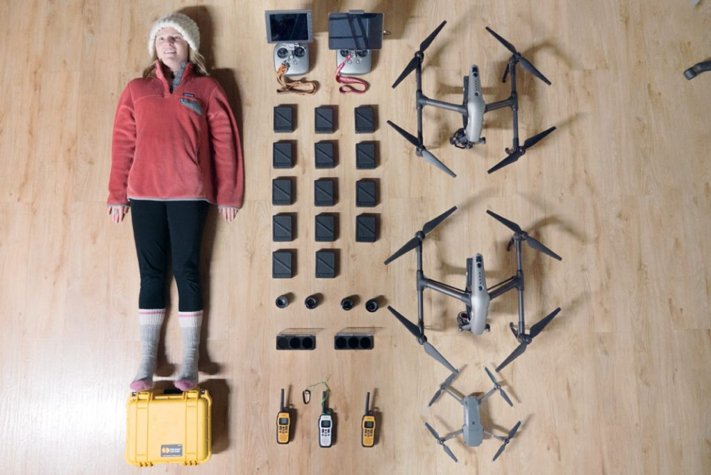 A drone kit for paddlers