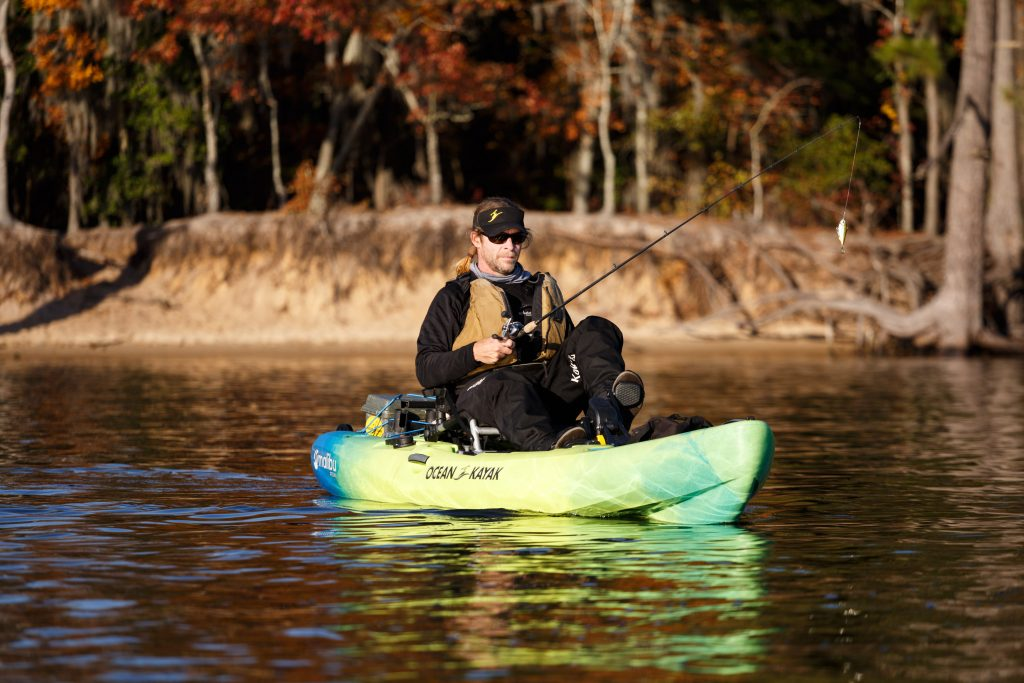Kevin Whitley in the Ocean Kayak Malibu Pedal Fishing Kayak