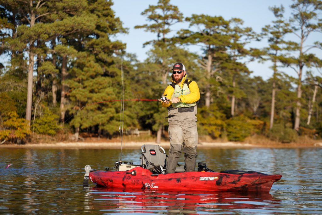 William Ragulsky in the Old Town Predator PDL Fishing Kayak