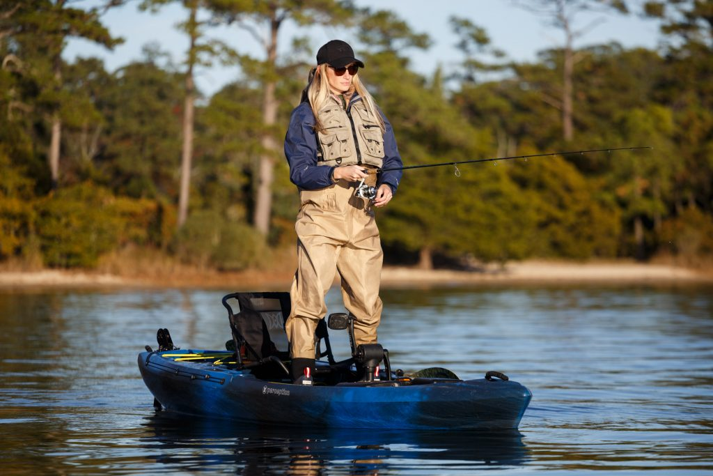Meghan Lorrain tests Perception Kayaks' Pescador Pilot Fishing Kayak