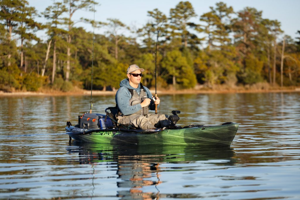 Jay Brooks fishing in the Wilderness Systems Radar Helix PD Fishing Kayak