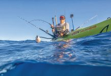 Man in fishing kayak