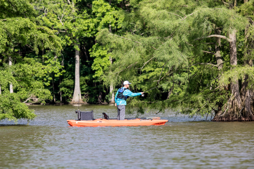 Yes, you can stand and fish from a sit-inside kayak. | Photo: Patrick Buzz Hayes