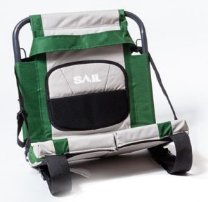 Sail Sit-Back Canoe Seat with Aluminum Frames