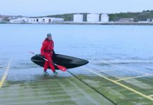 Diver Rob Thompson using marine recycled plastic to create Kayaks