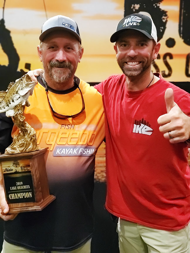 2019 Hobie BOS TOC champion Jody Queen and Bassmaster Classic champion and MLF superstar, Mike Iaconelli.