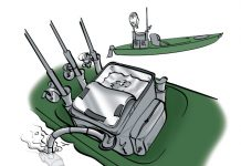 Illustration of a livewell installed in a fishing kayak