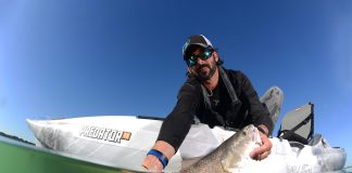 """""""There's nothing Patrick enjoys more than chasing big schools of wintertime redfish in South Carolina."""" Photos: Jason Arnold"""