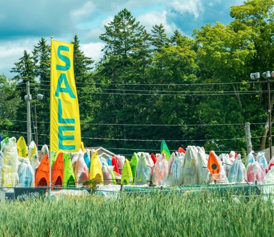 Kayaks for sale at the end of the season