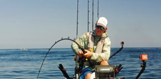 A heavy rod with slow action absorbs the shock of a big hit. Photo: Courtesy Hobie Fishing
